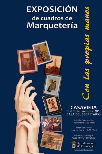 EXPOSICIÓN DE CUADROS DE MARQUETERÍA.