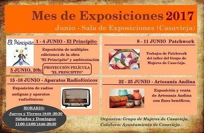 EXPOSICIONES DEL MES DE JUNIO.