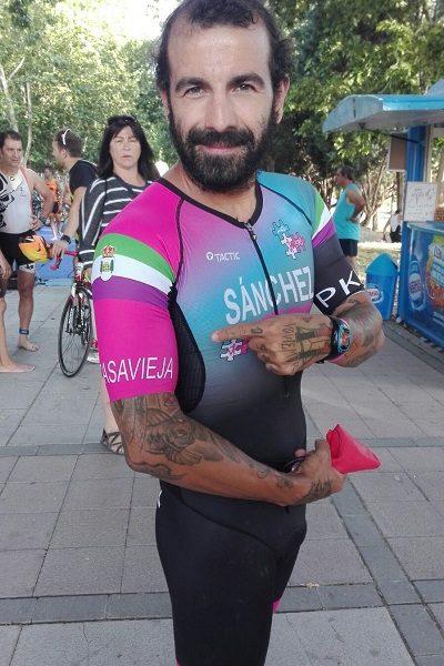 DAVID SÁNCHEZ EN EL TRIATLÓN DE SALAMANCA.