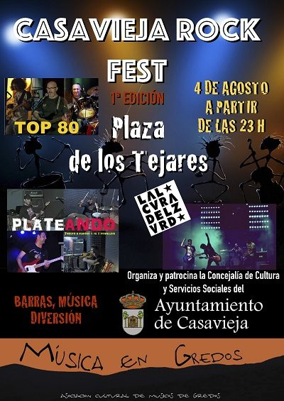 I EDICIÓN DEL CASAVIEJA ROCK FEST: VERANO CULTURAL.