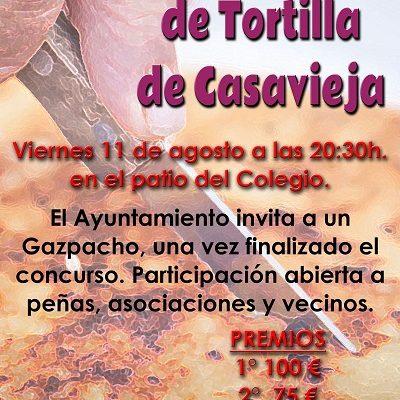 III CONCURSO DE TORTILLA DE CASAVIEJA: VERANO CULTURAL.