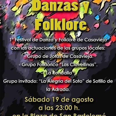 I FESTIVAL DE DANZAS Y FOLKLORE DE CASAVIEJA: VERANO CULTURAL.