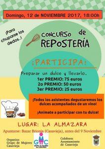 """Concurso de Repostería. @ Centro Polivalente """"La Almazara""""."""