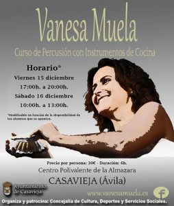 """Curso de Percusión con Instrumentos de Cocina. @ Centro Polivalente """"La Almazara""""."""