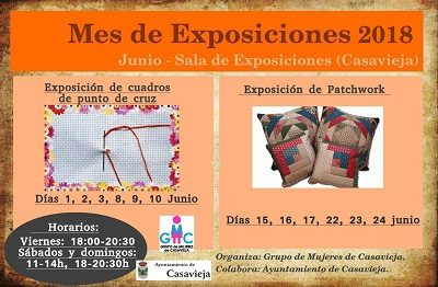 EXPOSICIONES DEL MES DE JUNIO 2018.