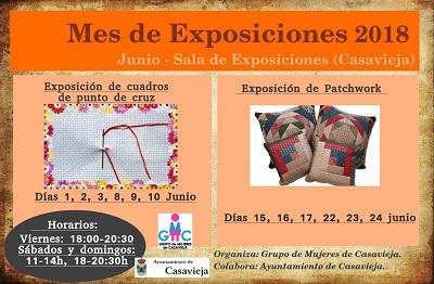 EXPOSICIONES DEL MES DE JUNIO 2018.