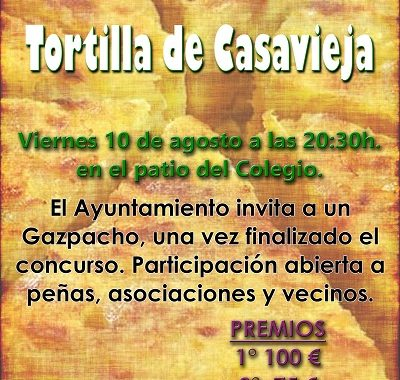 "IV CONCURSO DE ""TORTILLA DE PATATA"": VERANO CULTURAL"