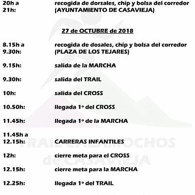 PROGRAMACIÓN II TRAIL CALAMOCHOS DE CASAVIEJA