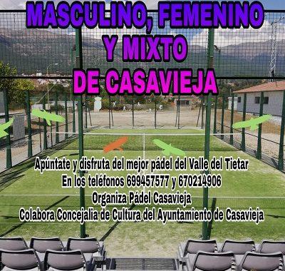 4º RANKING PÁDEL MASCULINO, FEMENINO Y MIXTO DE CASAVIEJA
