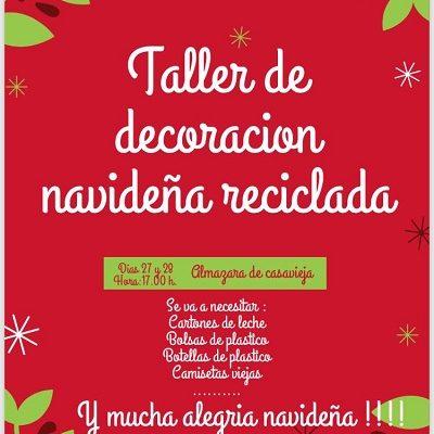 TALLER DE DECORACIÓN NAVIDEÑA RECICLADA