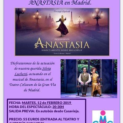 VEN CON NOSOTRAS AL ESPECTÁCULO DE ANASTASIA EN MADRID