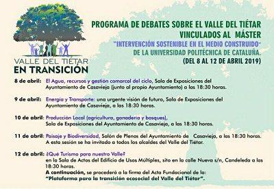 PROGRAMA DE DEBATES SOBRE EL VALLE DEL TIÉTAR