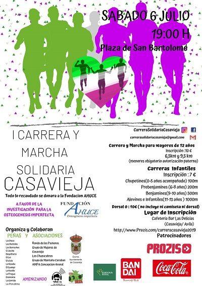 I CARRERA Y MARCHA SOLIDARIA DE CASAVIEJA