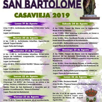 FIESTAS DE SAN BARTOLOMÉ 2019