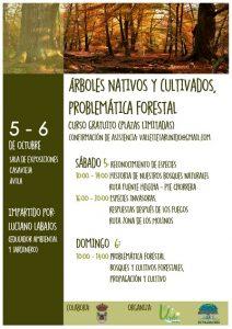 """Curso """"Árboles nativos y cultivados, problemática forestal"""" @ Salón de Plenos del Ayuntamiento de Casavieja."""