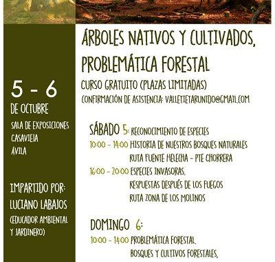 """CURSO GRATUITO """"ÁRBOLES NATIVOS Y CULTIVADOS, PROBLEMÁTICA FORESTAL"""""""