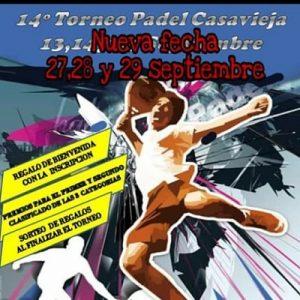 """XIV edición del Torneo de Pádel Casavieja @ Pista de Pádel de """"Las Eras""""."""