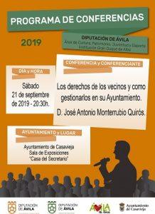 """Conferencia """"Los derechos de los vecinos y como gestionarlos en su Ayuntamiento"""" @ Sala de Exposiciones """"Casa del Secretario"""""""