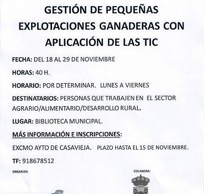 """CURSO """"LA MUJER EN LA EMPRESA AGRARIA: GESTIÓN DE PEQUEÑAS EXPLOTACIONES GANADERAS CON APLICACIÓN DE LAS TIC"""""""