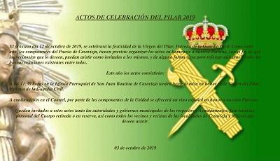ACTOS DE CELEBRACIÓN DEL PILAR 2019