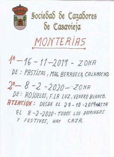 PRÓXIMAS MONTERÍAS