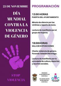 25N: Día Mundial contra la Violencia de género @ Ayuntamiento de Casavieja