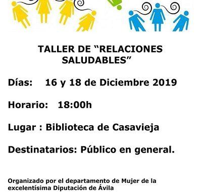 """TALLER DE """"RELACIONES SALUDABLES"""""""