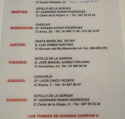 FARMACIAS DE GUARDIA 24-02-2020 AL 01-03-2020