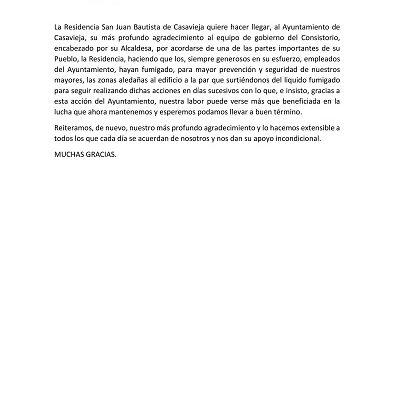 CARTA DE LA RESIDENCIA SAN JUAN BAUTISTA