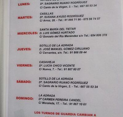 FARMACIAS DE GUARDIA 16-03-2020 AL 22-03-2020