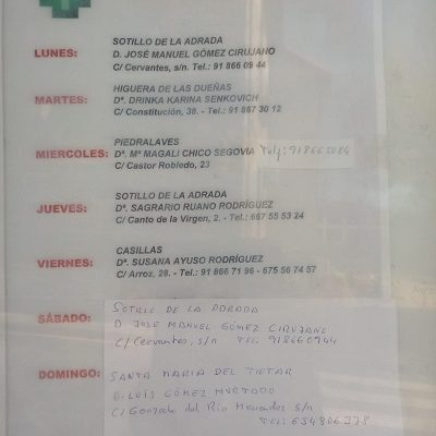 FARMACIAS DE GUARDIA 23-03-2020 AL 29-03-2020