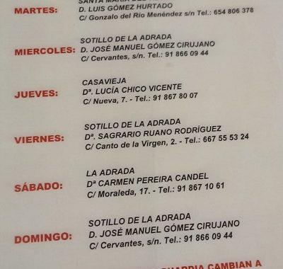 FARMACIAS DE GUARDIA 06-04-2020 AL 12-04-2020