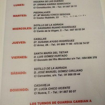 FARMACIAS DE GUARDIA 13-04-2020 AL 19-04-2020