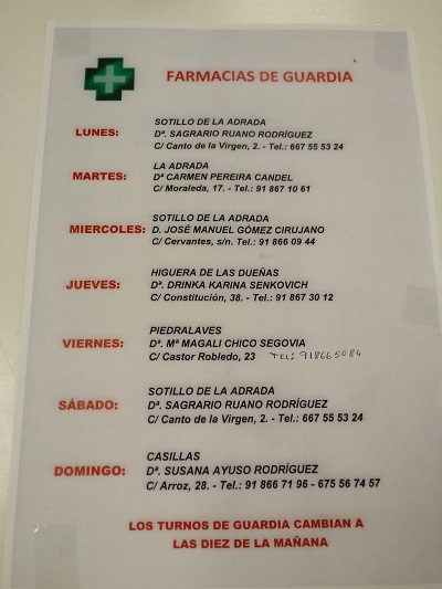 FARMACIAS DE GUARDIA 20-04-2020 AL 26-04-2020
