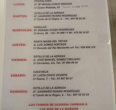 FARMACIAS DE GUARDIA 04-05-2020 AL 10-05-2020