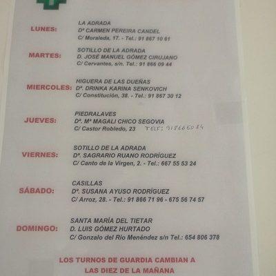 FARMACIAS DE GUARDIA 11-05-2020 AL 17-05-2020