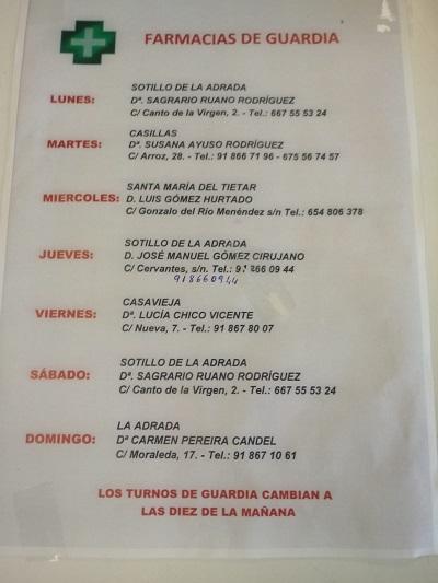 FARMACIAS DE GUARDIA 25-05-2020 AL 31-05-2020