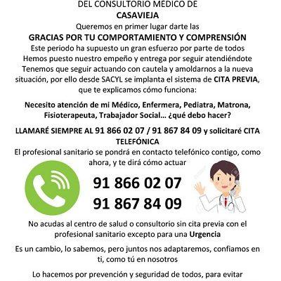 INFORMACIÓN DEL CONSULTORIO MÉDICO DE CASAVIEJA