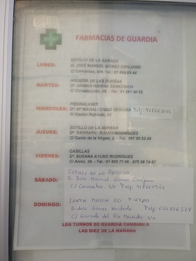 FARMACIAS DE GUARDIA 01-06-2020 AL 07-06-2020