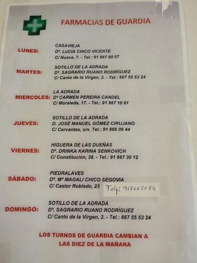 FARMACIAS DE GUARDIA 08-06-2020 AL 14-06-2020