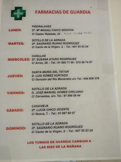 FARMACIAS DE GUARDIA 13-07-2020 AL 19-07-2020