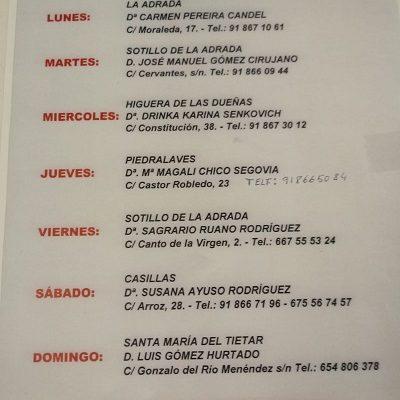 FARMACIAS DE GUARDIA 20-07-2020 AL 26-07-2020