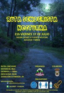 Ruta Senderista Nocturna @ Fuente Helecha