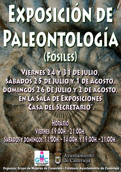 EXPOSICIÓN DE PALEONTOLOGÍA (FÓSILES)