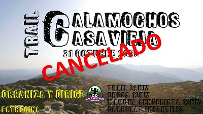 CANCELADO EL IV TRAIL CALAMOCHOS DE CASAVIEJA