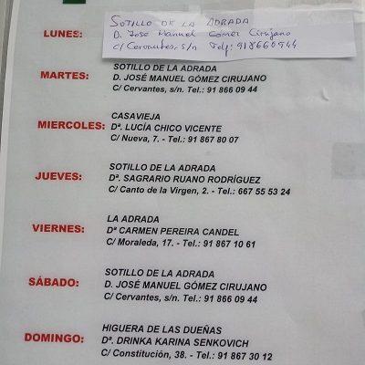 FARMACIAS DE GUARDIA 14-09-2020 AL 20-09-2020