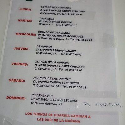 FARMACIAS DE GUARDIA 05-10-2020 AL 11-10-2020