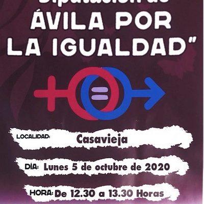 """CAMPAÑA ITINERANTE """"DIPUTACIÓN DE ÁVILA POR LA IGUALDAD"""" EN CASAVIEJA"""