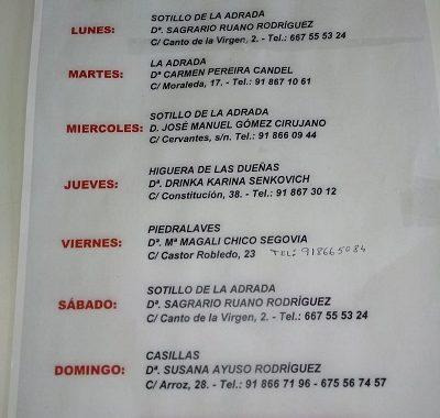FARMACIAS DE GUARDIA 16-11-2020 AL 22-11-2020
