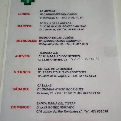 FARMACIAS DE GUARDIA 07-12-2020 AL 13-12-2020